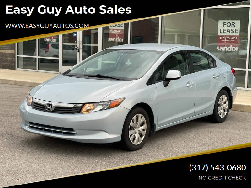 2012 Honda Civic for sale at Easy Guy Auto Sales in Indianapolis IN