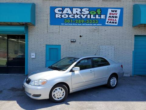 2005 Toyota Corolla for sale at Cars Of Rockville in Rockville MD