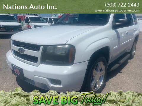 2008 Chevrolet TrailBlazer for sale at Nations Auto Inc. in Denver CO