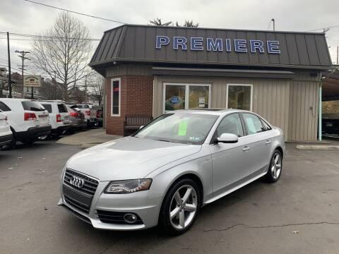 2012 Audi A4 for sale at Premiere Auto Sales in Washington PA