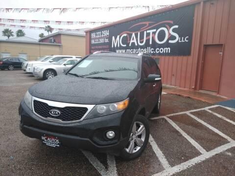 2013 Kia Sorento for sale at MC Autos LLC in Pharr TX