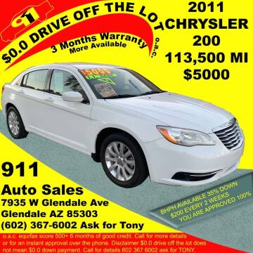 2011 Chrysler 200 for sale at 911 AUTO SALES LLC in Glendale AZ