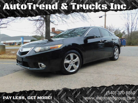 2012 Acura TSX for sale at AutoTrend & Trucks Inc in Fredericksburg VA