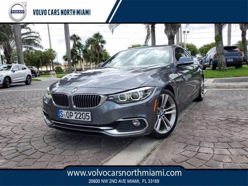 2018 BMW 4 Series for sale at Volvo Cars North Miami in Miami FL