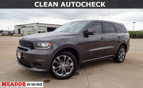 2019 Dodge Durango for sale at Meador Dodge Chrysler Jeep RAM in Fort Worth TX