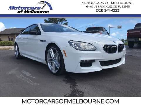 2015 BMW 6 Series for sale at Motorcars of Melbourne in Rockledge FL