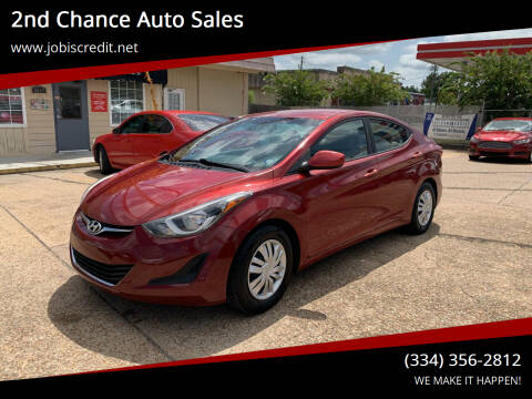 2016 Hyundai Elantra for sale at 2nd Chance Auto Sales in Montgomery AL