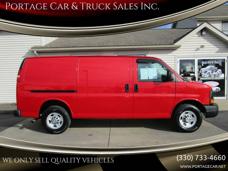 2013 Chevrolet Express Cargo for sale at Portage Car & Truck Sales Inc. in Akron OH
