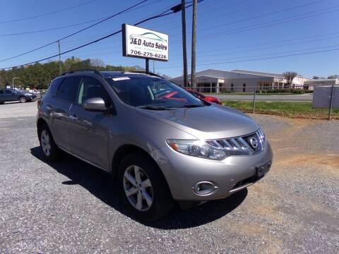 2010 Nissan Murano for sale at J & D Auto Sales in Dalton GA