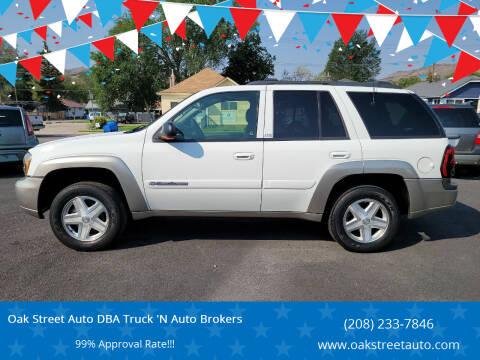 2003 Chevrolet TrailBlazer for sale at Oak Street Auto DBA Truck 'N Auto Brokers in Pocatello ID