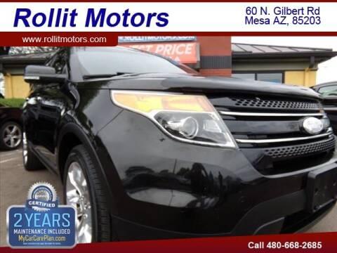 2015 Ford Explorer for sale at Rollit Motors in Mesa AZ