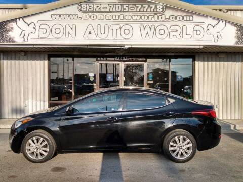 2015 Hyundai Elantra for sale at Don Auto World in Houston TX