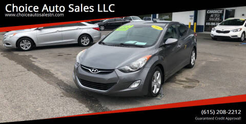 2013 Hyundai Elantra for sale at Choice Auto Sales LLC - Cash Inventory in White House TN