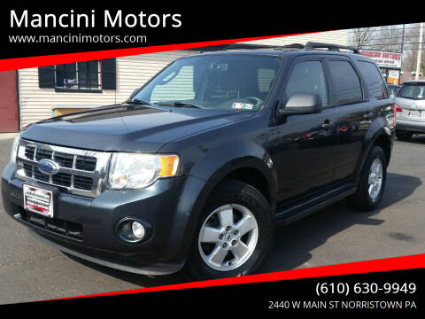 2009 Ford Escape for sale at Mancini Motors in Norristown PA