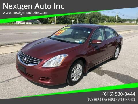 2010 Nissan Altima for sale at Nextgen Auto Inc in Smithville TN