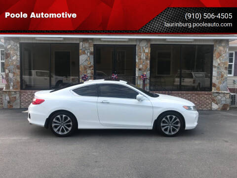 2014 Honda Accord for sale at Poole Automotive in Laurinburg NC