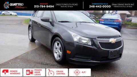 2014 Chevrolet Cruze for sale at Quattro Motors 2 in Farmington Hills MI