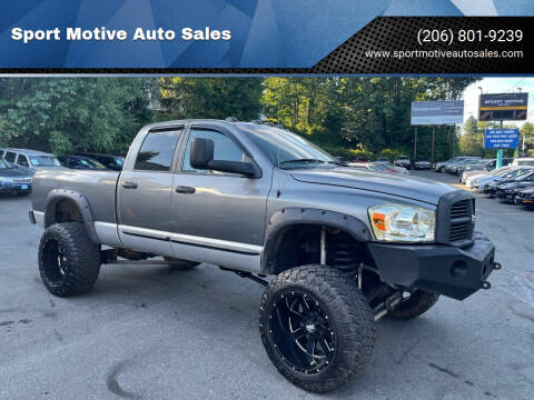 2006 Dodge Ram Pickup 2500 for sale at Sport Motive Auto Sales in Seattle WA