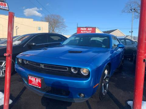 2016 Dodge Challenger for sale at Park Avenue Auto Lot Inc in Linden NJ