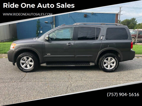 2008 Nissan Armada for sale at Ride One Auto Sales in Norfolk VA