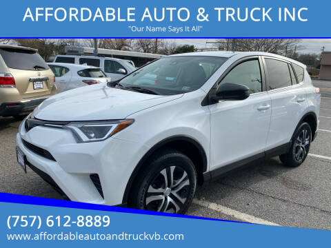 2018 Toyota RAV4 for sale at AFFORDABLE AUTO & TRUCK INC in Virginia Beach VA