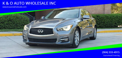 2016 Infiniti Q50 for sale at K & O AUTO WHOLESALE INC in Jacksonville FL