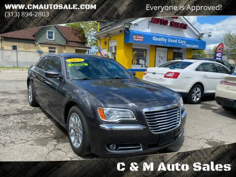 2013 Chrysler 300 for sale at C & M Auto Sales in Detroit MI