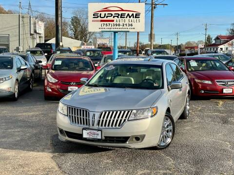 2011 Lincoln MKZ for sale at Supreme Auto Sales in Chesapeake VA