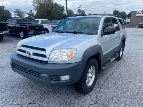 2003 Toyota 4Runner for sale at Brewster Used Cars in Anderson SC