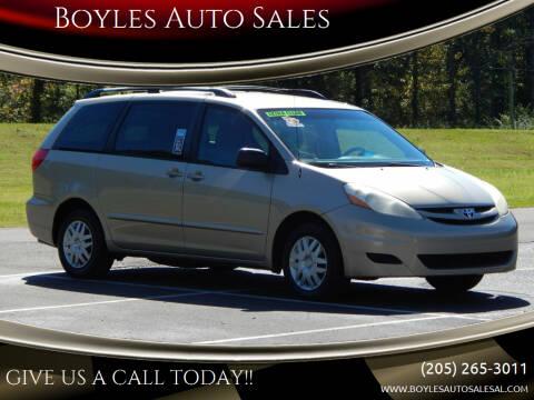 2007 Toyota Sienna for sale at Boyles Auto Sales in Jasper AL