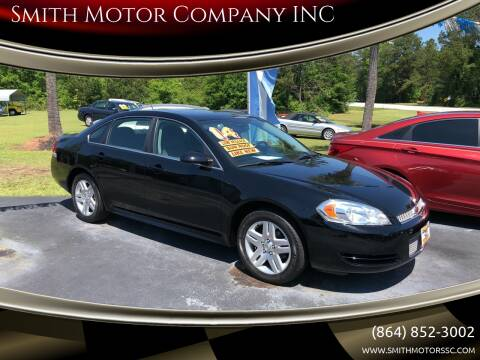 2014 Chevrolet Impala Limited for sale at Smith Motor Company INC in Mc Cormick SC