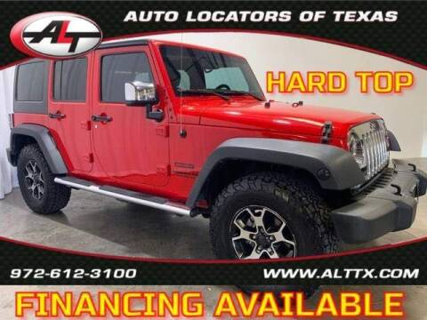 2015 Jeep Wrangler Unlimited for sale at AUTO LOCATORS OF TEXAS in Plano TX