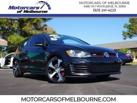 2015 Volkswagen Golf GTI for sale at Motorcars of Melbourne in Rockledge FL