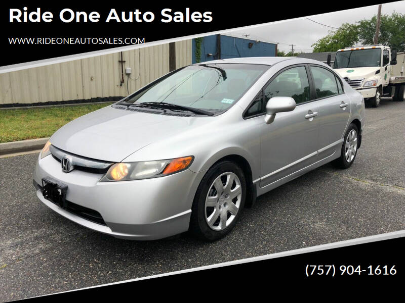2008 Honda Civic for sale at Ride One Auto Sales in Norfolk VA
