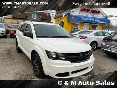 2018 Dodge Journey for sale at C & M Auto Sales in Detroit MI
