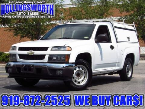 2012 Chevrolet Colorado for sale at Hollingsworth Auto Sales in Raleigh NC