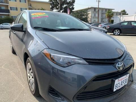 2018 Toyota Corolla for sale at San Mateo Auto Sales in San Mateo CA