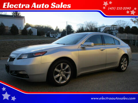 2012 Acura TL for sale at Electra Auto Sales in Johnston RI