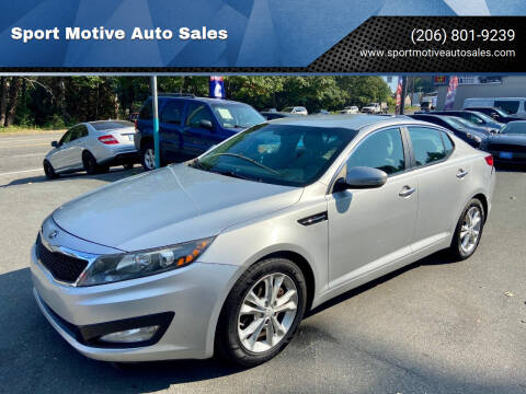 2013 Kia Optima for sale at Sport Motive Auto Sales in Seattle WA