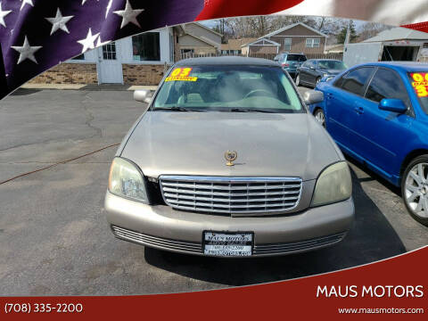 2003 Cadillac DeVille for sale at MAUS MOTORS in Hazel Crest IL