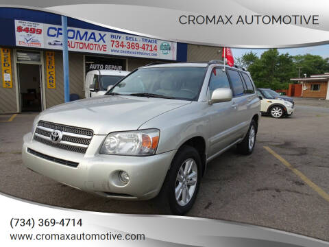 2006 Toyota Highlander Hybrid for sale at Cromax Automotive in Ann Arbor MI