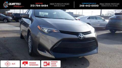 2019 Toyota Corolla for sale at Quattro Motors 2 - 1 in Redford MI
