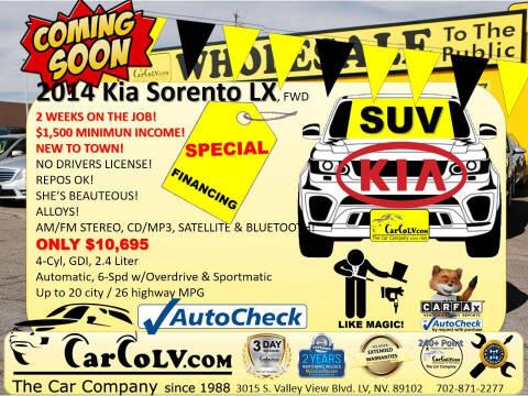 2014 Kia Sorento for sale at The Car Company in Las Vegas NV