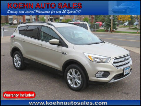 2018 Ford Escape for sale at Koehn Auto Sales in Lindstrom MN