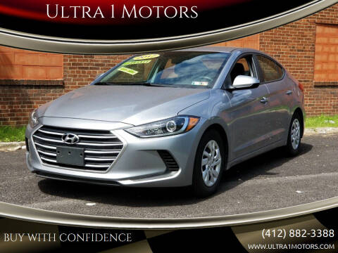 2017 Hyundai Elantra for sale at Ultra 1 Motors in Pittsburgh PA