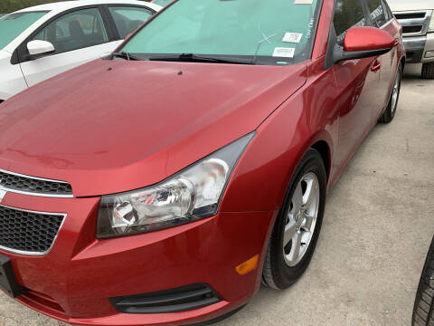 2013 Chevrolet Cruze for sale at BULLSEYE MOTORS INC in New Braunfels TX