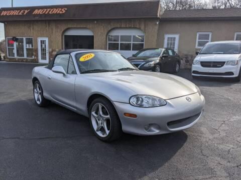 2003 Mazda MX-5 Miata for sale at Worley Motors in Enola PA