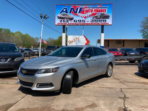 2018 Chevrolet Impala for sale at ANF AUTO FINANCE in Houston TX