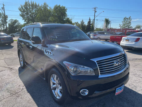 2011 Infiniti QX56 for sale at Peter Kay Auto Sales in Alden NY