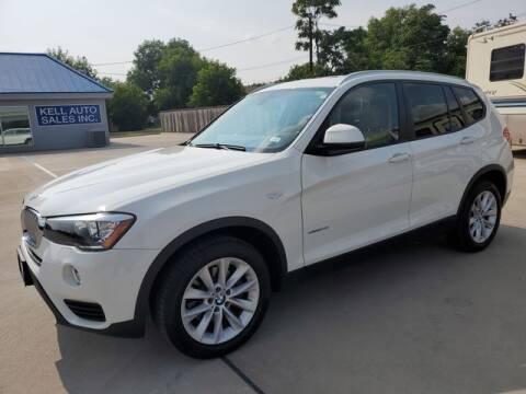 2017 BMW X3 for sale at Kell Auto Sales, Inc - Grace Street in Wichita Falls TX